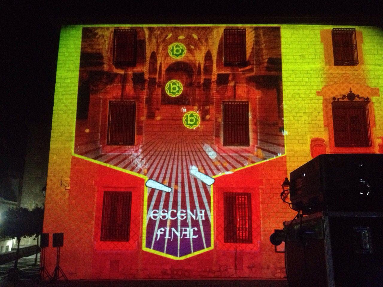 Pinball interactivo proyectado en el Palacio de Villardompardo de Jaén